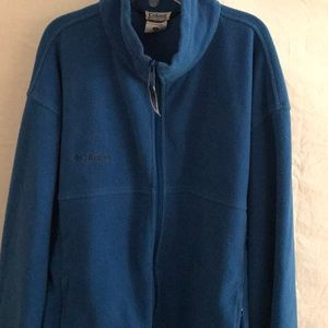 Columbia Mens Full Zipper Jacket Blue Sz XL